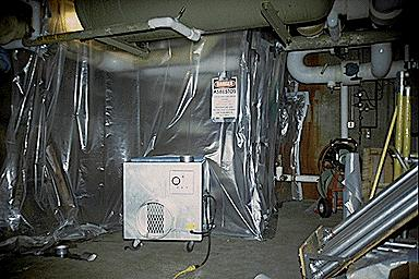 Asbestos abatement equipment